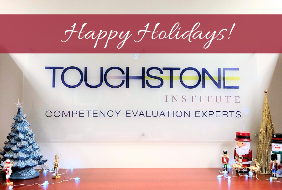 Happy Holidays from Touchstone Institute sign